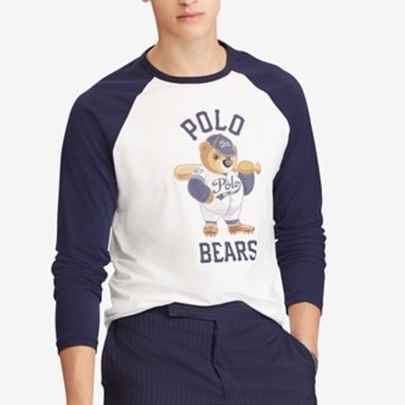 8c8298ce4 Polo Bear Slim Fit Baseball Tee  Limited! Lg